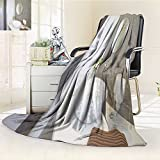 Philiphome Fleece Blanket 300 GSM New Round Sink and Mirror with Stainless Steel Faucet Anti-Static Double-Sides Reversible Super Soft Warm Fuzzy Bed Blanket(60''x 50'')