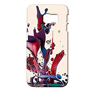 Samsung Galaxy S6 Edge Mobile Cover Practicable Protective Phone Case Snap on Samsung Galaxy S6 Edge Multicolored Water Halo Pattern Cellphone Shell