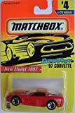 MATCHBOX SUPERFAST NEW MODEL 1997 CORVETTE #4/75, RED.