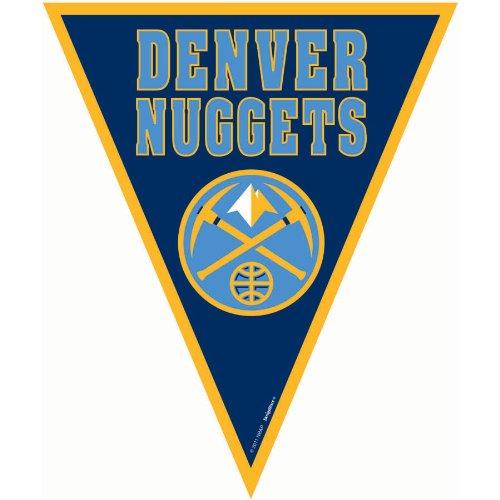 Amscan Amazing Denver Nuggets NBA Pennant Banner, 12', Blue (Denver Nuggets Pennant)