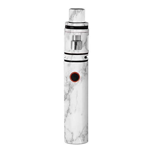 Review Skin Decal Vinyl Wrap for Smok Stick V8 Pen Vape Skins Stickers Cover / Grey and White Marble panel