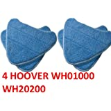 4 PACK Hoover Steam Mop Pads Compatible WH20200 Steam Mop # WH01000