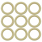 50 PCS 55mm Natural Wooden Teething Rings Circle Pendant Connectors Beads for DIY Projects Jewelry Craft Making