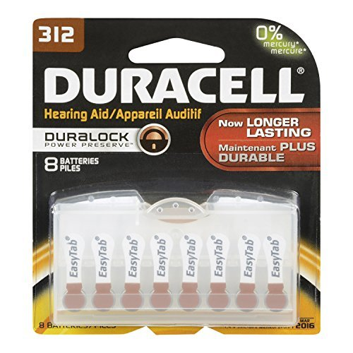 Duracell Hearing Aid Size 312 Batteries, 8 count - Buy Packs