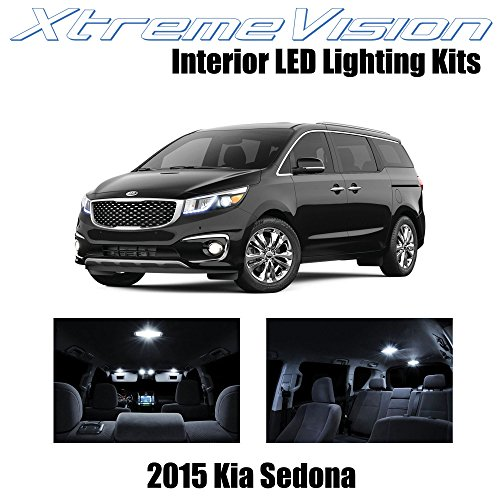XtremeVision Interior LED for Kia Sedona 2015+ (9 Pieces) Pure White Interior LED Kit + Installation Tool