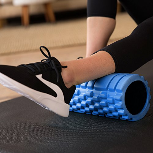 321 STRONG Foam Roller - Medium Density Deep Tissue Massager for Muscle Massage and Myofascial Trigger Point Release, with 4K eBook - Blue