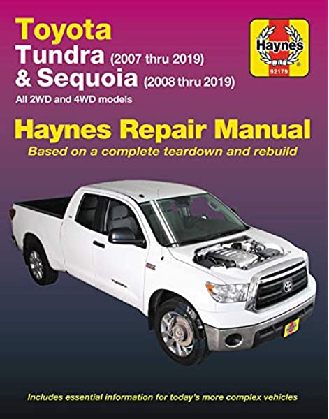 Toyota Tundra 2007 thru 2019 and Sequoia 2008 thru 2019 Haynes Repair  Manual: All 2WD and 4WD models: Editors of Haynes Manuals: 9781620921869:  Amazon.com: Books | 2007 Tundra Fuel Filter |  | Amazon.com
