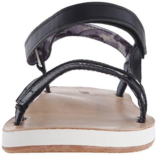 Teva Damen Slim Universal Sandale Schwarz