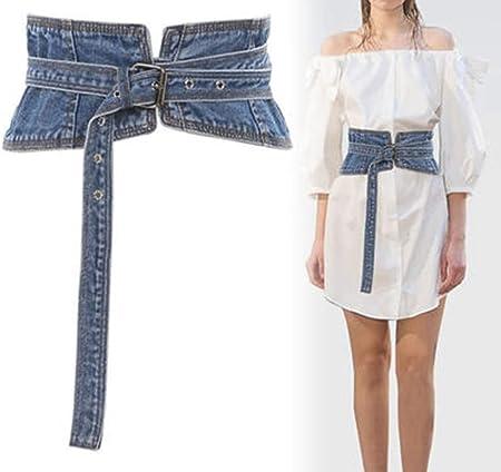TINERS Faja Vaquera, corsé de Mujer Correas de Moda Retro Camisa Blanca Decorada con Falda de cinturón Ancho: Amazon.es: Hogar