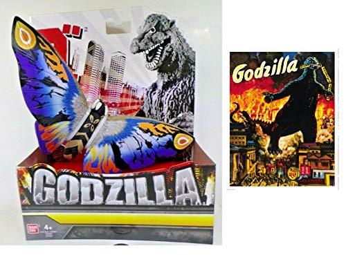 Godzilla Mothra Deluxe Vinyl Figure with One Monster Vintage Movie Poster Sticker. Bundle (2 ()