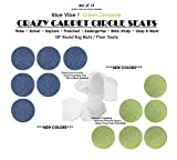 CHILDREN'S CRAZY CARPET CIRCLE SEATS - Blue Vibe & Green Limeade Set | 18'' Round Rug Mats / Floor Seats SCHOOL & HOME Favorite (Set of 12 Seats - 6 Blue/ 6 Green)