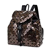 Swimblue Feminine Geometric Plaid Sequin Female Backpacks For Teenage Girls Bagpack Drawstring Bag Holographic Backpack Brown For Sale