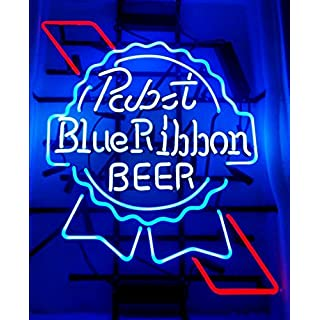 Pabst blue ribbon neon beer sign do it yourselfore pabst blue ribbon beer neon signs pub display neon light signs real glass tube bar pub solutioingenieria Image collections