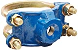 Smith-Blair Ductile Iron Saddle Clamp, Double Bale, 4'' Pipe Size, 3/4'' NPT Female Outlet