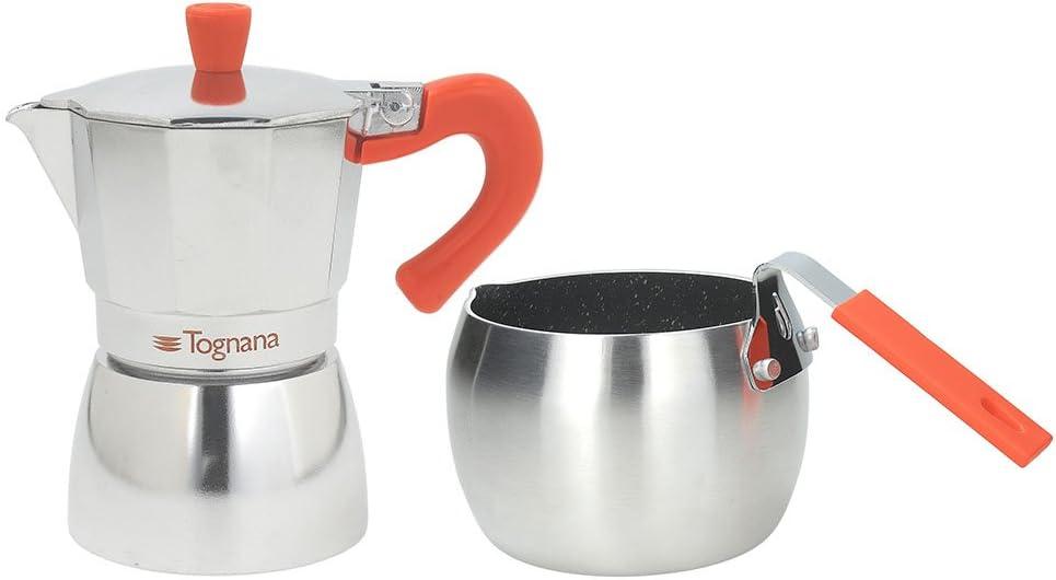 Tognana Coffee Time Juego Cafetera 3 Tazas Y Cazo, Aluminio ...