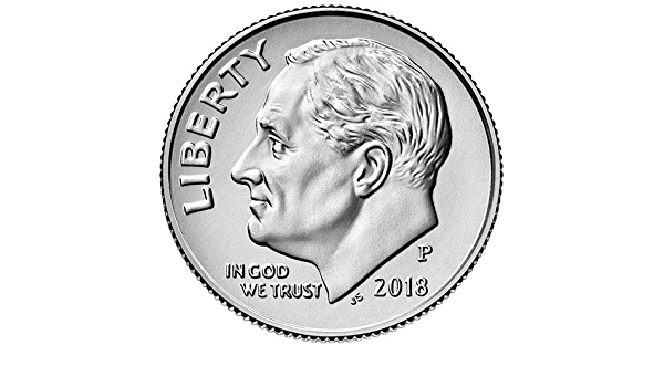 #8143 A Nice /& Shiny BU Coin 2018 P Roosevelt Dime Finish Your Coin Book