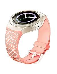 Watch Band, ABC Luxury TPU Silicone Watch Band Strap for Samsung Galaxy Gear S2 SM-R720 (Pink 2 )