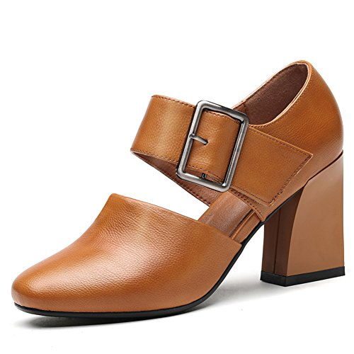 PUMPS Lady Deep Shoes,High Heel,Grobe und Hundert Schuhe,Freizeitschuhe-B Fußlänge=24.3CM(9.6Inch)