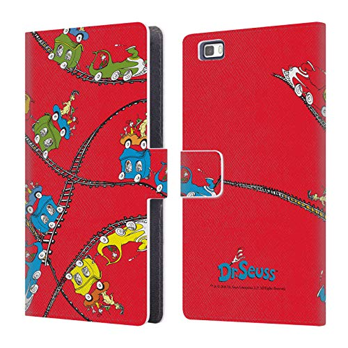 Official Dr. Seuss Tracks Green Eggs and Ham Leather Book Wallet Case Cover Compatible for Huawei P8lite / ALE-L21