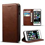 iPhone 6 Plus Case, iPhone 6S Plus Case, Premium Leather Wallet with Card Holder for Men/Women's Back Cell Phone Shell Skin Magnetic Flap Cover for Apple iPhone 6Plus 6SPlus