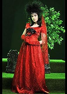 Red Gothic Wedding Dress Fancy dress costume Small (4-6): Amazon ...