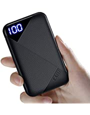 EAFU Portable Charger, Pocket-size LED Display 6000mAh Power Bank with USB Type C Input & Output, 3A High-Speed Battery Pack Compatible with iPhone 11 XR XS X 8 Samsung Galaxy S10 Note 10 Oneplus Google etc.