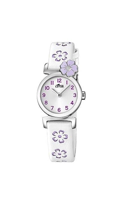 Lotus Reloj Análogo clásico para niñas de Cuarzo con Correa en Cuero 18174/3: LOTUS: Amazon.es: Relojes