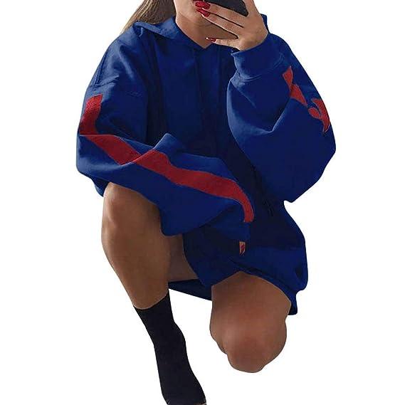 Yvelands Sudaderas para Mujeres en Oferta Womens Fashion Loose Patchwork Clothes Sudaderas con Capucha Pullover.