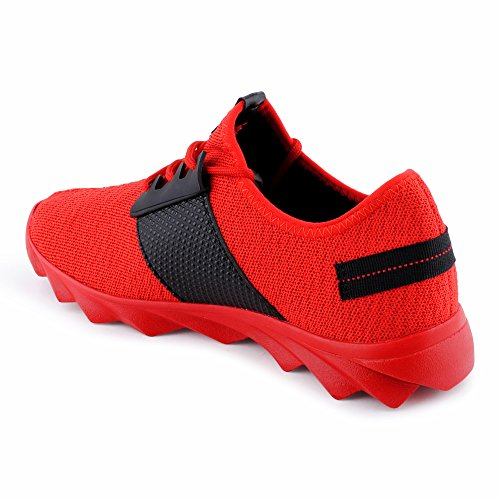 Mehrfarbig Textil 1 Herren Sneaker Strick Fusskleidung rot Berlin Sportschuhe RqFZ6xH