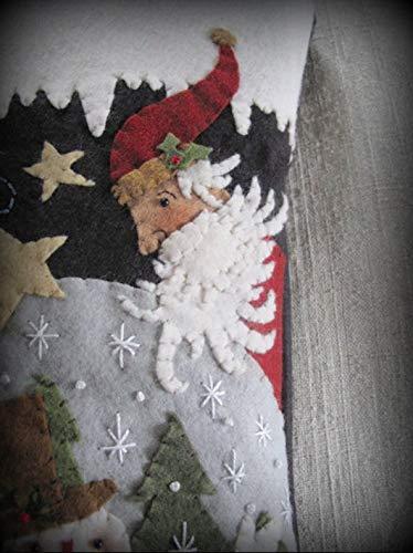 Magic Inside Every Snowflake by Cheswick Company Christmas Stocking KIT Wool Felt Applique