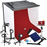 Photo : Emart Photography 24 x 24 Inches Table Top Photo Studio Continous Lighting LED Light Shooting Tent Box Kit, Camera Tripod & Cell Phone Holder