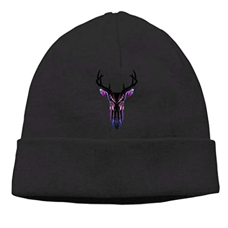 Poii Qon Deer Geometry Beanie Hat Knit Cap Woman Man