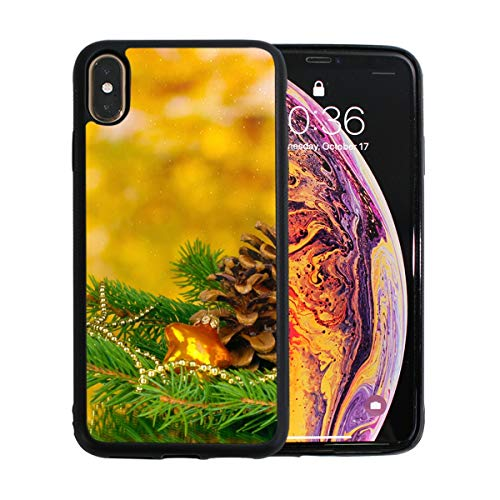 iPhone Xs Max Case,Ball Pine Cone Ornaments TPU Anti Scratch Protective Cover,Compatible Cell Phone Cases,Printed Shockproof Protector