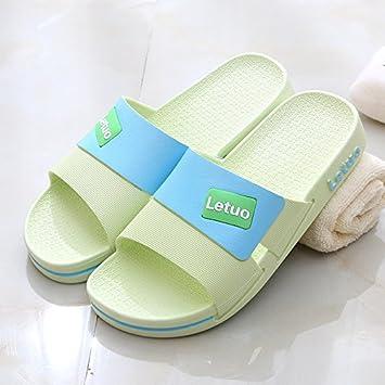CWJDTXD Zapatillas de verano Zapatillas masculinas sandalias de mediana edad ancianos abuelo baño antideslizante fondo suave insípido luz ancianas ...