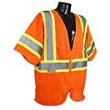 Radians SV22-3ZOM-2X Polyester Mesh Economy Class-3 Safety Vests with Two Tone Trim, 2X-Large, Orange