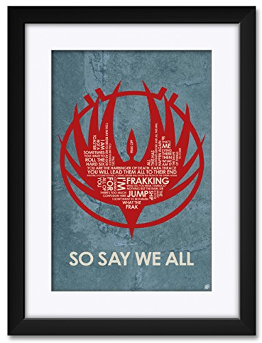So Say We All Framed Matted Art Print by Stephen Poon. Print Size 12 x 18 Framed Art Size 18 x 24