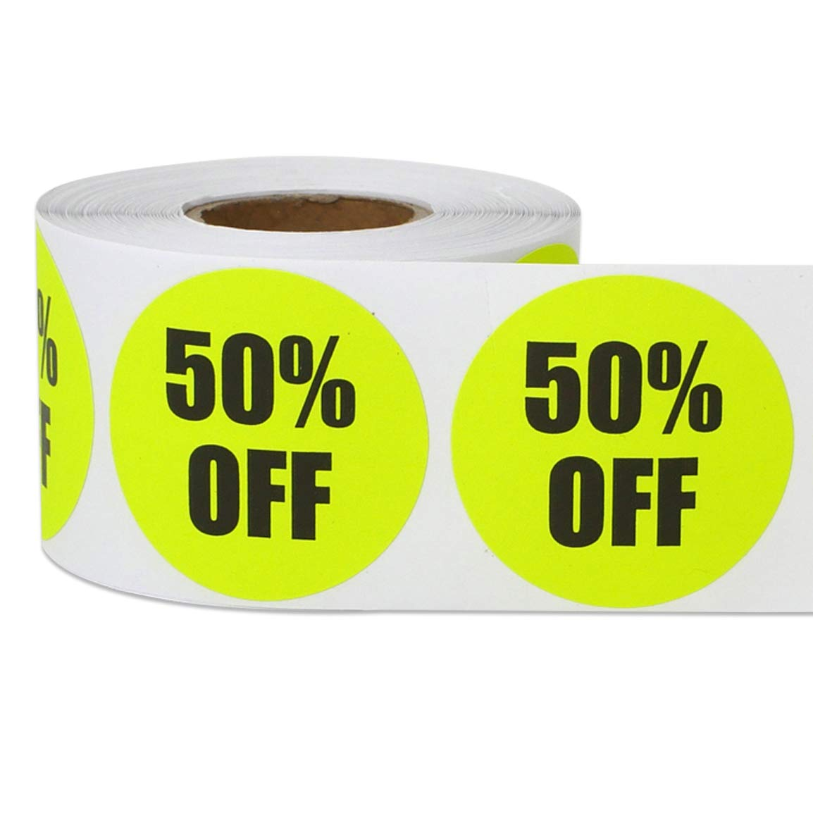 1500 Labels Retail Sales Blue 1.5 Round 30/% Off Label for Promos Discounts 5 Rolls
