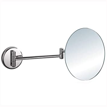 3X Magnification Bathroom Mirror Double Sided Extendable Magnifying Mirror for Spa and Hotel,Chromed GGMIN Wall Mount Makeup Mirror