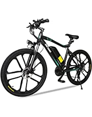 GOTRAX EBE2 26inch Electric Bike with 36V 12.5Ah Removable Lithium-Ion Battery, 350W Powerful Motor up Speed 32km/h, Shimano Professional 21 Speed Gears,Dual Disc Brakes Alloy Frame Electric Bicycle