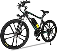 GOTRAX EBE2 26inch Electric Bike with 36V 12.5Ah Removable Lithium-Ion Battery, 350W Powerful Motor up Speed 3