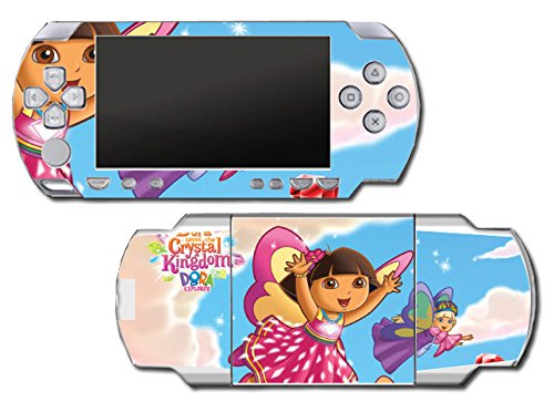Dora the Explorer Saves the Crystal Kingdom Snow Princess Fairy Video Game Vinyl Decal Skin Sticker Cover for Sony PSP Playstation Portable Original Fat 1000 Series System (Snow Playstation Princess)