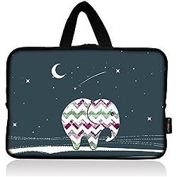AUPET Elephant Universal 7 ~ 8 inch Tablet Portable Neoprene Zipper Carrying Sleeve Case Bag