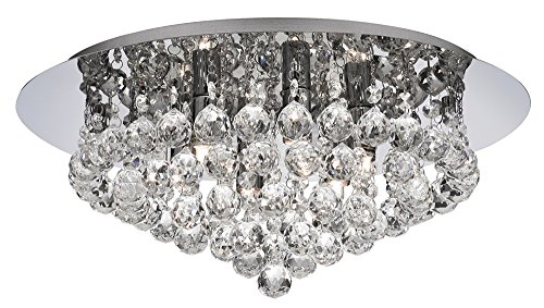 Interior Flush - Ultra Modern 6 Light Crystal Glass Flush Ceiling Light Fitting By Haysom Interiors