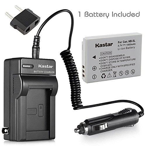 Kastar NB-5L Battery+Charger for Canon PowerShot SD700 IS SD790 IS SD800 SD800 IS SD850 IS ()