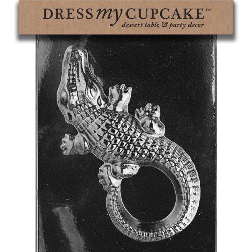 Dress My Cupcake DMCA067 Chocolate Candy Mold, Large Alligator