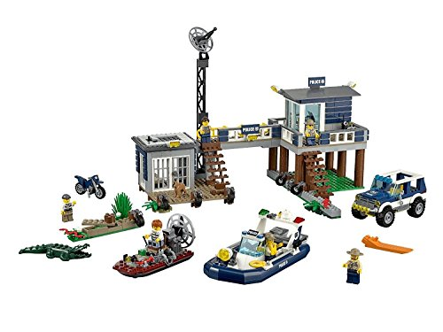 Lego 60069 City Swamp Police Station Kids' Building Playset Toy with Four Vehicles