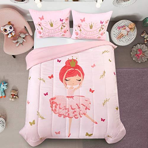 Heritage Kids Prima Ballerina Comforter Set, Twin, Pink