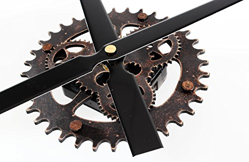 Reliable_E Aluminum Clock Hands Power Movement DIY Wood Like Wall Clock Kit for Home Decoration (G#black-wood)