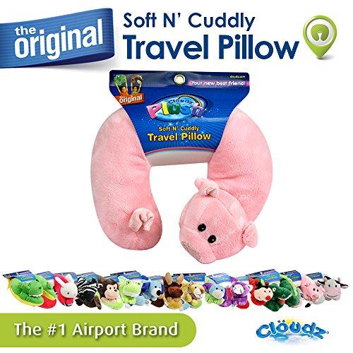 Cloudz Plush Animal Neck Pillows - Pig Pig Cuddly Animal