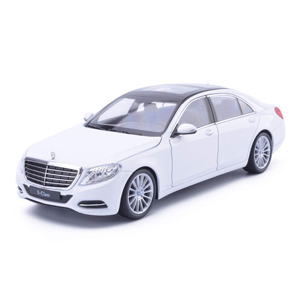 promociones de equipo blanco ZHPBHD S-Class Modelo de Coche 1 24 aleación de de de simulación Modelo de Coche Original decoración de Juguetes colección de Joyas 19x7x5 CM Modelo (Color   blanco)  Precio al por mayor y calidad confiable.